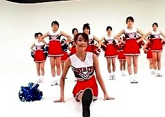 Incredible Japanese model in Exotic Cheerleader, Amateur JAV movie