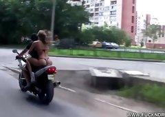 Insane Biker Hotty
