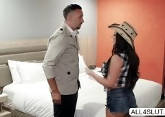 Big tits babe Angela White gets pussy and anal fucked by Keiran Lee